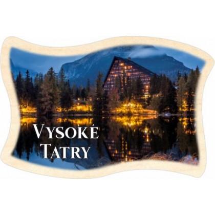 Magnetka drevená Vysoké Tatry 04 vlajka