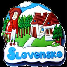 Magnetka gumová Slovensko 2a