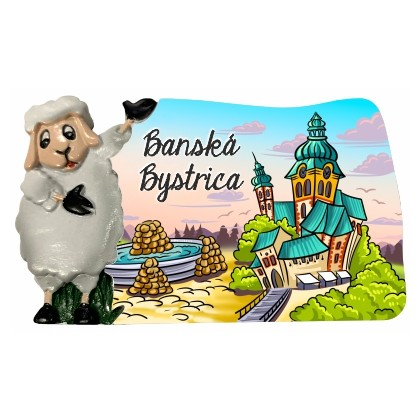Magnetka Banská Bystrica 04 kompozitná