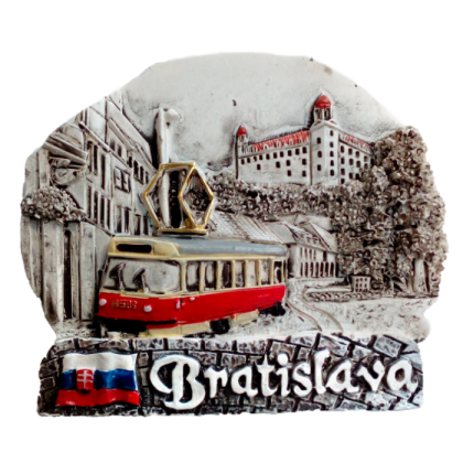 Magnetka Bratislava Hrad+električka čb kompozitná