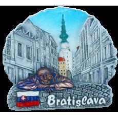 Magnetka Bratislava Michalská brána čb kompozitná