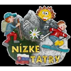 Magnetka Nízke Tatry turisti kompozitná