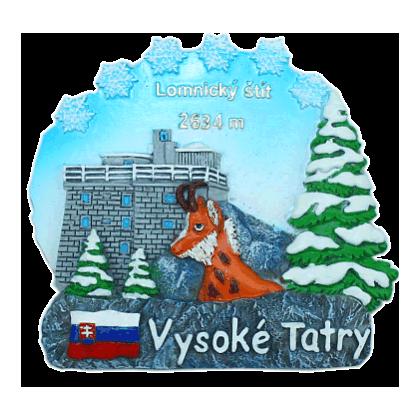 Magnetka Vysoké Tatry Lomnický štít kompozitná