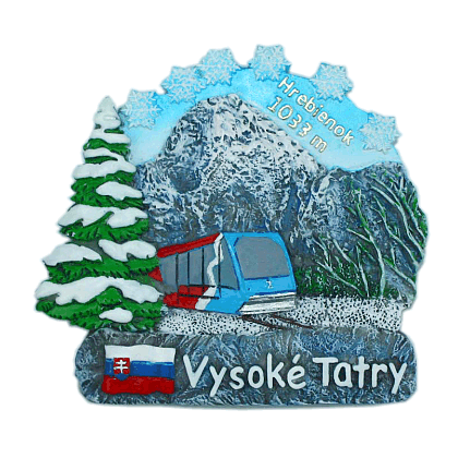 Magnetka Vysoké Tatry Hrebienok zima kompozitná