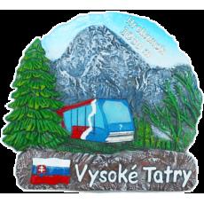 Magnetka Vysoké Tatry Hrebienok leto kompozitná