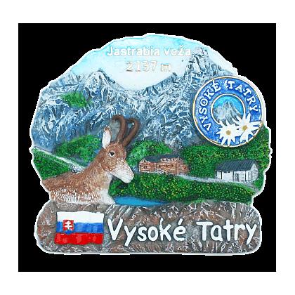 Magnetka Vysoké Tatry Jastrabia veža kompozitná