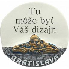 """Magnetka Bratislava Čumil """"Vlastný dizajn"""" kompozitná"""