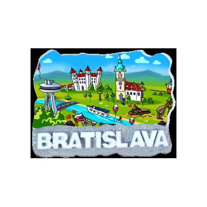 Magnetka Bratislava 15 kompozitná