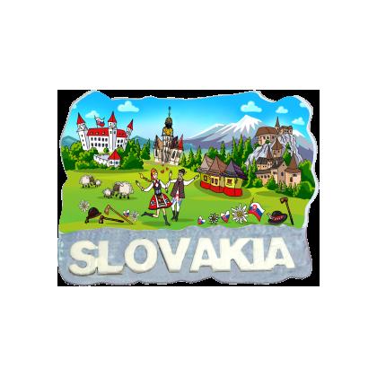 Magnetka Slovensko 5 kompozitná