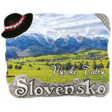 Magnetka Vysoké Tatry 03 kompozitná