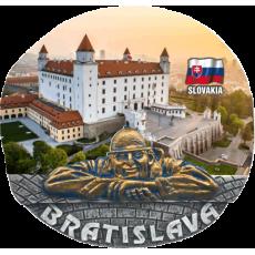 Magnetka Bratislava Hrad deň kompozitná