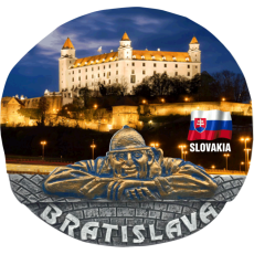 Magnetka Bratislava Hrad noc kompozitná