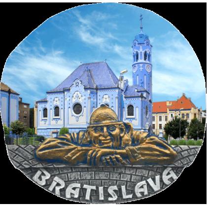 Magnetka Bratislava Modrý kostolík kompozitná