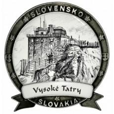 Magnetka Vysoké Tatry 01 Dekokov strieborná