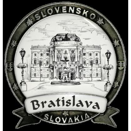Magnetka kovová Bratislava 01 Dekokov strieborná