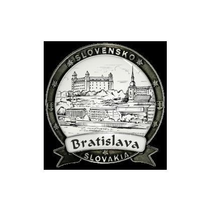 Magnetka kovová Bratislava 02 Dekokov strieborná