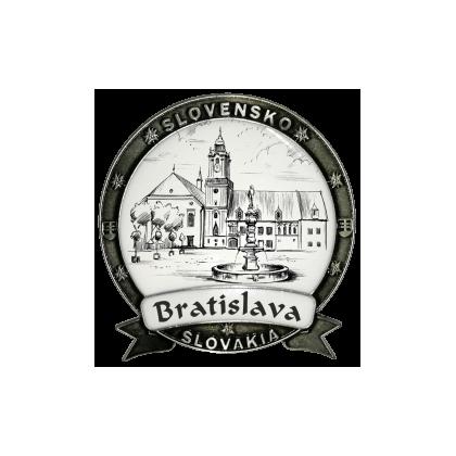 Magnetka kovová Bratislava 03 Dekokov strieborná