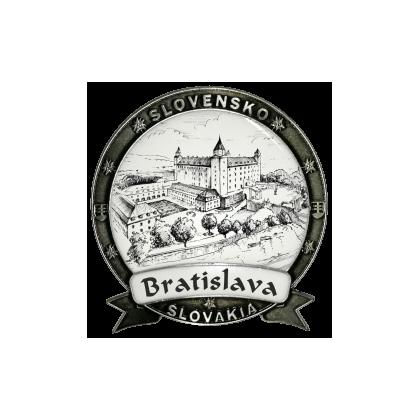 Magnetka kovová Bratislava 04 Dekokov strieborná