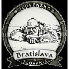 Magnetka kovová Bratislava 06 Dekokov strieborná