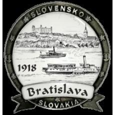 Magnetka kovová Bratislava 07 Dekokov strieborná