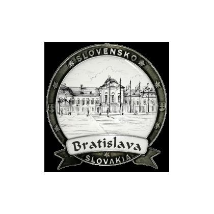 Magnetka kovová Bratislava 08 Dekokov strieborná