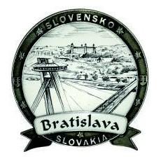 Magnetka kovová Bratislava 05 Dekokov strieborná