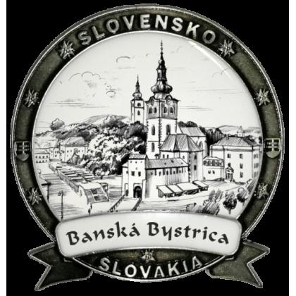 Magnetka Banská Bystrica 01 Dekokov strieborná