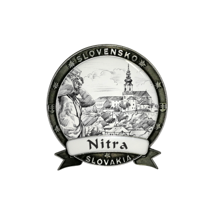Magnetka Nitra 01 Dekokov strieborná