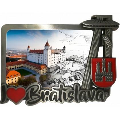 Magnetka kovová Bratislava 01 dofarbovaná