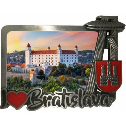 Magnetka kovová Bratislava 02 dofarbovaná
