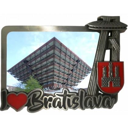Magnetka kovová Bratislava 04 dofarbovaná
