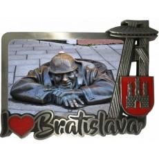 Magnetka kovová Bratislava 05 dofarbovaná