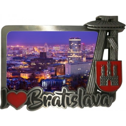 Magnetka kovová Bratislava 06 dofarbovaná