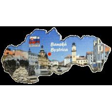 Magnetka mapa Banská Bystrica