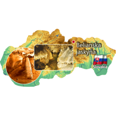 Magnetka mapa Belianska jaskyňa