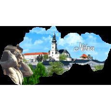 Magnetka mapa Nitra