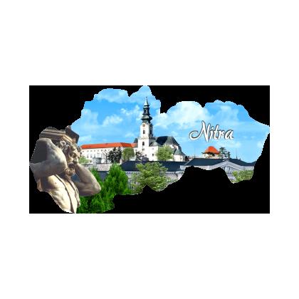 Magnetka mapa Nitra 01