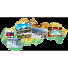 Magnetka mapa Oravice