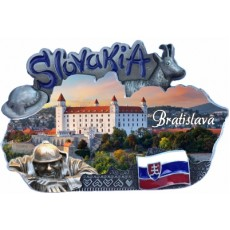 Magnetka mapa Bratislava 01