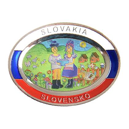 Suvenír Tanier ovál Slovensko 1